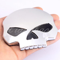 Wholesale Carbon Fiber Auto Stickers - Skull Stickers 3D Demon Bone Badge Emblem Fairing Decal Sticker Fits For Harley And Most Motorcycle Car Auto