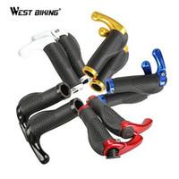 Wholesale Bicycle Body Lock - 1 Pair Rubber Bicycle Handlebar Grips Steering Wheels Bicicleta Body Cover Bilateral Lock Cycling Bike Bicycle Grips