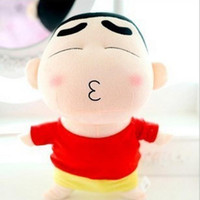 Wholesale Shin Chan Stuffed Toy - Wholesale-1pcs 20cm Crayon Shin Chan Stuffed Plush Doll Japanese Anime Action Figure For Best Gift Plush Doll Plush Toys Gift For Girl