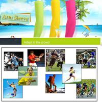 Wholesale Wholesale Baseball Armbands - football retail solid color pairs cycling sleeve baseball Outdoor Sport Stretch Arm Sleeve Extended armband cycling compression sleeve