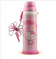 Wholesale Retail ML Good Quality Cute Hello Kitty Children s Stainless Steel Vacuum Flasks Thermos Water Bottle
