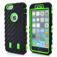 Wholesale Armor Tire - Tire Dual Layer Defender Cases For iPhone6 4.7 Inch iphone7 7 plus TPU + Hard Plastic 3 in 1 Heavy Duty Armor Hybrid Phone Cover