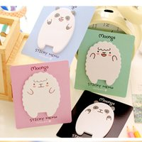 Wholesale Memo Pad Bear - Wholesale- Little Lamb and Bear Creative Sticky Notes Memo Pad Paper Sticker Post It Gift Cartoon Cute Wall stickers Fridge Magnets N times