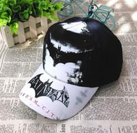 Wholesale New Batman Caps - Kids Hats Snapbacks Cotton Cartoon Batman Baseball Hat Casual Cap Boys Snapback Girls Caps Children Gifts 2016 Fashion Accessories new