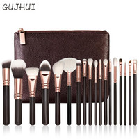 Wholesale 18 Brushes - Hot Best Deal 18 Pcs Rose Gold Makeup Brushes Complete Eye Set Tools Powder Blending Brush Beauty Girl Cosmetic Tools Brushes Kit with Bag