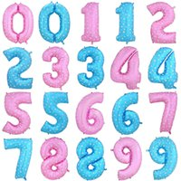 Wholesale Dresses Balloon - New Style 30 Inch Blue pink number Balloons happy birthday Wedding Party happy new year Decoration Dressed