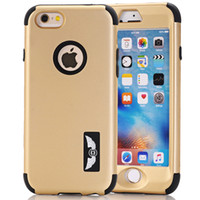 Wholesale Designer Silicone Case - Luxury Gold Mobile Phone Covers for iphone 5 6 6s 7 plus Hybrid 3 in 1 Case Shock-absorbing Silicone Interior designer phone cases