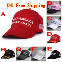 Wholesale Usa Great - 120Pcs Make America Great Again Hat Donald Trump Republican Snapback Sports Hats Baseball Caps USA Flag Mens Womens Fashion Cap F765