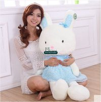 Dorimytrader 100cm Large Lovely Cartoon Cartoon Bunny Toy 39 '' Big Stuffed oreiller Poupée de lapin Nice cadeau de Noël DY61382
