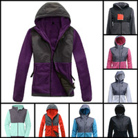 Wholesale Hooded Hoodies Jackets Coats - Top Quality Winter Women Fleece Hoodies Jackets Camping Windproof Ski Warm Down Coat Outdoor Casual Hooded SoftShell Sportswear Black S-XXL