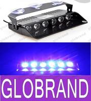 Wholesale Led Dash Board Light - NEW 6 LED Police Emergency Strobe Lights Dash board Windshields lamp Car Truck Light DC12V RED BLUE WHITE AMBER GLO373