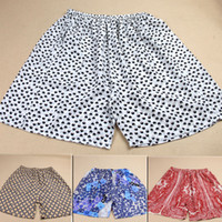 Wholesale Men Silk Goods - Wholesale-Good silk breathing pure silk silk men and women beach pants shorts pants shorts safety silk crepe