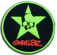 Gorillaz Patch Music Band motociclista Punk Metal Rider Vest Musica rock Sticker ricamato il ferro sul SEW su Cool rock punk Badge