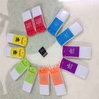 Wholesale m2 flash card - 100pcs USB TF Card Reader USB 2.0 Micro SD T-Flash TF M2 Memory Card Reader High Speed Adapter for 4gb 8gb 16gb 32gb 64gb 128gb Micro SD Car
