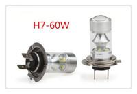 ingrosso bianco tiguan-Alta potenza 20W H4 / H7 COB Luce di illuminazione a LED per auto Luce di marcia diurna DRL Lampadina di guida per auto DC12V / 24V Lampada antinebbia per parcheggio