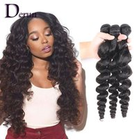 Wholesale New Arrival Indian Hair - Derun Hair New Arrival!!!Mix 3pcs 10-30inches Loose Wave Brazilian Peruvian Malaysian Indian Human Hair Weft Hair Weave