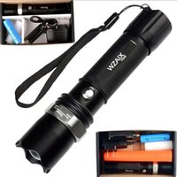Wholesale Hid Flashlight Torch - Hot Sale New 1101 Type Edc Linternas Light Cree Led Tactical Flashlight Lanterna Self defense Torch 18650(built-in) Free Shipping