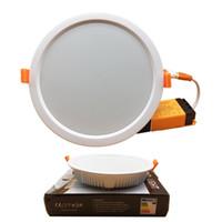 ultra dünnes vertieftes licht dimmbar großhandel-Neue Ankunft Dimmable führte Platte Downlights Lampen 7W 16W 24W 32W ultra dünne geführte vertiefte Deckenleuchten Wechselstrom 85-265V
