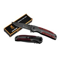 Wholesale Straight Blades Wholesale - Browning DA43 Knife Titanium Browning Knife Camping Hiking Fine Tactical Straight Knife Survival Tools Retail 3004011