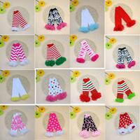 Wholesale Wholesale Toddler Knit Leggings - 16Design Baby Toddler Infant Girls Lace Leg Warmers Leopard High Knee Warmer Socks Knitted Leggings Children sock Free shipping E988