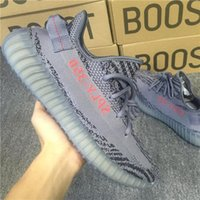 Wholesale Wholesalers Women Flat Shoes - ORIGINALS BOOST 350 V2 CHARCOAL GREY BELUGA 2.0 AH2203 RUNNING SHOES KANYE WEST SPLY 350 V2 BOOSTS STEGRY BELUGA ROUSOL SNEAKERS