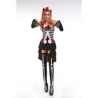 Wholesale Sexy Vampire Brides - New Adult Womens Sexy Floral Halloween Party Fairy Vampire Costumes Outfit Fancy Ghost Bride Cosplay