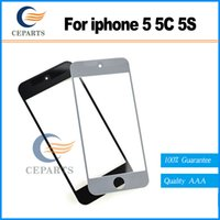 Wholesale Iphone 5s Touch Glass Replacement - Front Glass Screen With OCA adhensive+Touch Panel Digitizer For iPhone 5 5G 5S 5C Repair Replacement Lcd Screen display fast DHL shipping