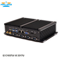black card commercial - IPC fanless mini industrial pc with Intel Celeron u Ghz CPU