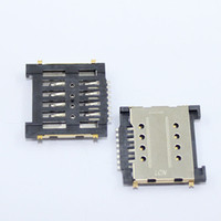 Wholesale Card Reader Cell Phone - Wholesale-10x Cell phone Sim card reader socket connecor holder for Huawei glory 6 H60-L01 G660-L705 MATE MT1-T00 MT1-U06