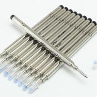 nachfüllungen großhandel-Großhandel 10 Stücke MB marke Hohe Qualität Schwarz Farbe M / F tinte roller kugelschreiber Refill Pen liefert zubehör kostenloser versand