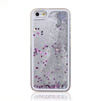 China Wholesale 3D Liquid Crystal Quicksand Fall für iPhone 5 6 flüssige Sand Handy Cover Case