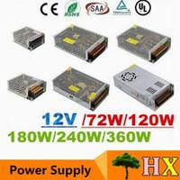 módulo ul al por mayor-CE ROHS UL SAA + 12V 6A 10A 15A 20A 25A 30A Led Transformador 70W 120W 360W Fuente de alimentación para módulos Led Tiras
