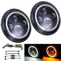 7inch 40W LED faro con Halo Ring Turnalum White / Amber faro para Jeep Harley Offroad Vehicles