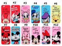 "Wholesale Duck Iphone Cases - Cute 3D Cartoon Minnie Mickey Mouse Donald Duck TPU Silicone Cover For Iphone 6 6s 4.7"" iphone 6 6s plus 5.5"""
