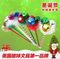 Wholesale Christmas Ball Pens - New ball point pen children Christmas gift bell pen cartoon pen creative