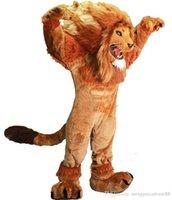 Wholesale Brave Dress - Lion Mascot Costume adult size brave Lion cartoon Costume Party fancy dress factory direct sale High Quality