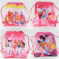 Wholesale Wholesale Winx Club - New Style !96pcs Winx Club fashion backpack popular schools bags good quality canvas cartoon kids backpack Free Shipping