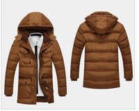 Wholesale Casual Faux Fur Hooded Pad - Men's Trench Parka Youth Causal Hooded Cotton Padded Jacket Thicken Coat Male Four Pocket Windproof Waterproof Warm Jacket Men