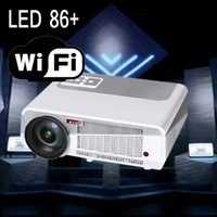 LED 86 + Wifi Proyector LED 4500lumens 4.4 Projetor Andriod Multimedia Full HD de cine en casa LCD mini proyector LED Full HD