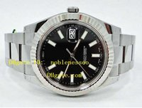 Wholesale Luxury Ii Perpetual - Luxury Men's watch BRAND NEW DATE II 41mm BLACK DIAL Stainless Steel 116334 Perpetual Top quality Automatic Men's Watch