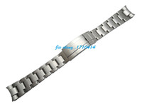 Wholesale 21mm Strap - Free Shipping For ROL watch 20mm 21mm The grind arenaceous New Men Curved end Watch band Strap Bracelet STAINLESS STEEL Band