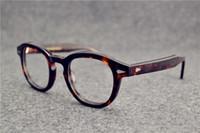 ingrosso ripristinare gli occhiali da sole antichi-Montature per occhiali johnny depp plank montatura per occhiali fotogramma per restauri antichi oculos de grau per uomo e donna miopia montature per occhiali
