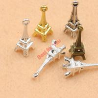 Wholesale 18k Gold Eiffel Tower Charm - 10pcs Antique Silver Eiffel Tower Charms Pendants Jewelry Diy Jewelry Findings Handmade 22x8mm jewelry making