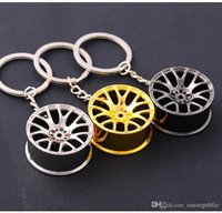 Wholesale Turbocharger Chains - Turbo Keychain!Creative Hot Sleeve Bearing Spinning Turbine Turbocharger Key Chain Ring Keyfob Keyring Key Holder 2029