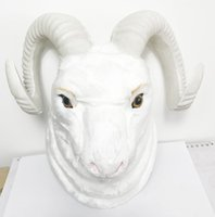 Wholesale Best Price Plastic Models - Free shipping artificial lifelike sheep head model figurine for Christmas home decoration giftware birthday gift best price