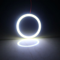 2pcs / lot 95 millimetri bianco / bule / ren / verde / giallo COB dell'occhio di angelo impermeabile circuito integrato del LED Car Super Bright faro alone Light Ring luce COB