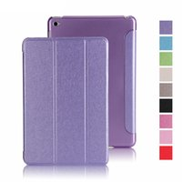 Wholesale Applicable to ipad5 protective cover air2 silk pattern Siamese intelligent dormant mini3 ultra thin leather case PCC059