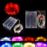 Wholesale warm fairy light silver for sale - Group buy AA Battery Power Operated LED Copper Silver Wire Fairy Lights String M M M M Christmas Xmas Home Party Decoration Seed Lamp Outdoor