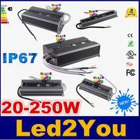 interruptor vde al por mayor-12V Fuente de alimentación conmutada 50W 80W 100W 200W 250W LED Conductor de luz Transformadores de voltaje constante Fuente de alimentación IP67 impermeable Voltaje total