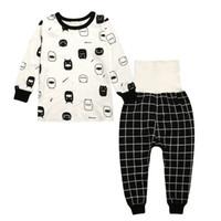 Wholesale Toddler Pijamas - Multi styles baby pijamas sets 2016 autumn winter ins Toddler clothing cartoon Kids pajamas Long sleeve tops High-waisted pant homewear